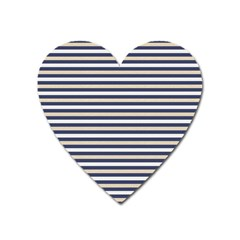Royal Gold Classic Stripes Heart Magnet