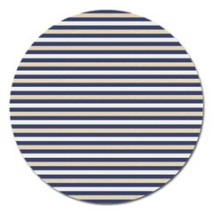 Royal Gold Classic Stripes Magnet 5  (round)