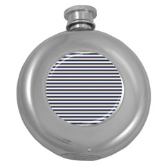 Royal Gold Classic Stripes Round Hip Flask (5 Oz)