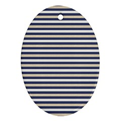 Royal Gold Classic Stripes Oval Ornament (two Sides)