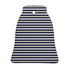 Royal Gold Classic Stripes Bell Ornament (two Sides)