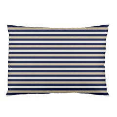 Royal Gold Classic Stripes Pillow Case (two Sides)
