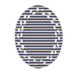 Royal Gold Classic Stripes Ornament (oval Filigree)