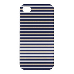 Royal Gold Classic Stripes Apple Iphone 4/4s Hardshell Case