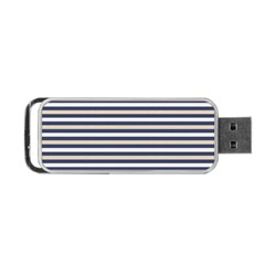 Royal Gold Classic Stripes Portable Usb Flash (one Side)