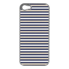 Royal Gold Classic Stripes Apple Iphone 5 Case (silver)