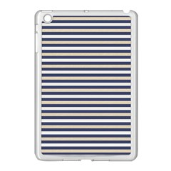 Royal Gold Classic Stripes Apple Ipad Mini Case (white)