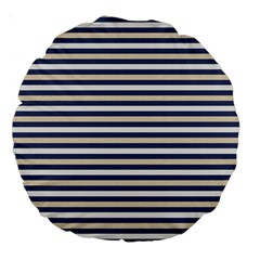 Royal Gold Classic Stripes Large 18  Premium Round Cushions