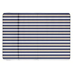 Royal Gold Classic Stripes Samsung Galaxy Tab 8 9  P7300 Flip Case