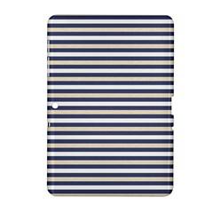 Royal Gold Classic Stripes Samsung Galaxy Tab 2 (10 1 ) P5100 Hardshell Case