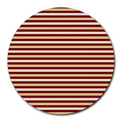 Gold And Wine Round Mousepads