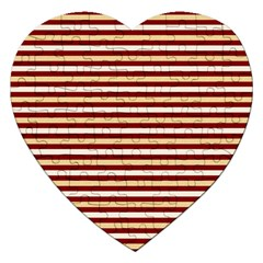 Gold And Wine Jigsaw Puzzle (heart)