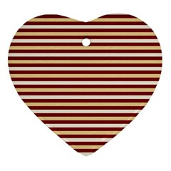 Gold And Wine Heart Ornament (two Sides)