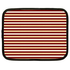 Gold And Wine Netbook Case (large)