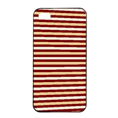 Gold And Wine Apple Iphone 4/4s Seamless Case (black)