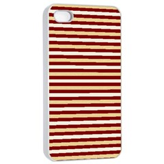 Gold And Wine Apple Iphone 4/4s Seamless Case (white)