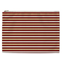 Gold And Wine Cosmetic Bag (xxl)