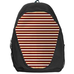 Gold And Wine Backpack Bag