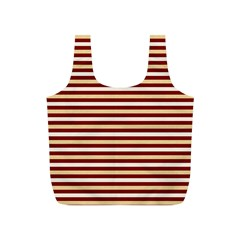 Gold And Wine Full Print Recycle Bags (s)