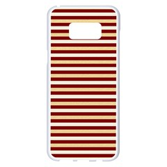 Gold And Wine Samsung Galaxy S8 Plus White Seamless Case