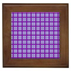 Purple Tartan Framed Tiles