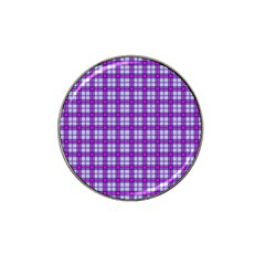 Purple Tartan Hat Clip Ball Marker (10 Pack)