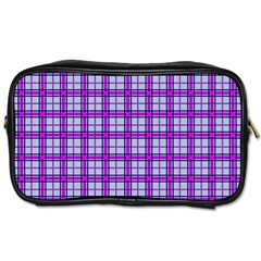 Purple Tartan Toiletries Bags 2 Side
