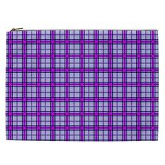 Purple Tartan Cosmetic Bag (xxl)