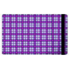 Purple Tartan Apple Ipad 3/4 Flip Case