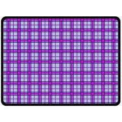 Purple Tartan Double Sided Fleece Blanket (large)