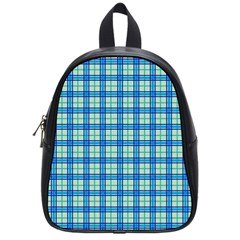 Sea Tartan School Bag (small)