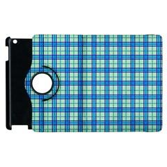 Sea Tartan Apple Ipad 3/4 Flip 360 Case