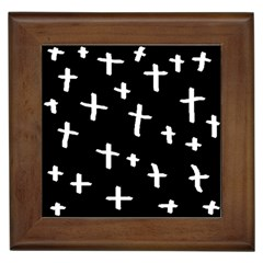White Cross Framed Tiles