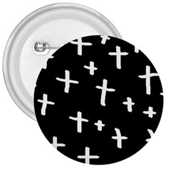 White Cross 3  Buttons