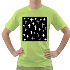 White Cross Green T Shirt