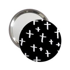 White Cross 2 25  Handbag Mirrors