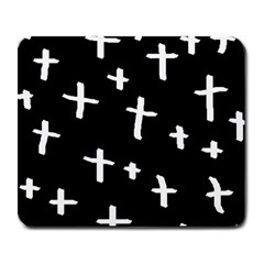 White Cross Large Mousepads
