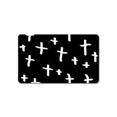 White Cross Magnet (name Card)