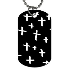 White Cross Dog Tag (one Side)