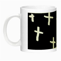 White Cross Night Luminous Mugs