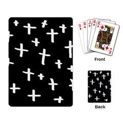White Cross Playing Card