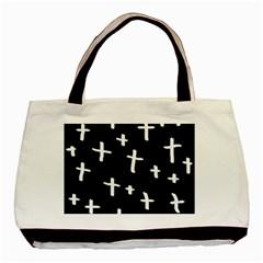 White Cross Basic Tote Bag