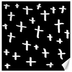 White Cross Canvas 20  X 20
