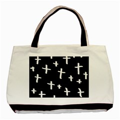 White Cross Basic Tote Bag (two Sides)