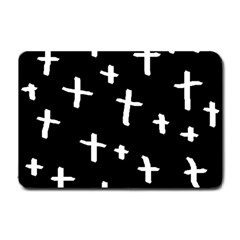 White Cross Small Doormat