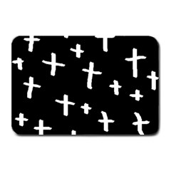 White Cross Plate Mats