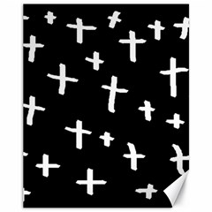 White Cross Canvas 11  X 14