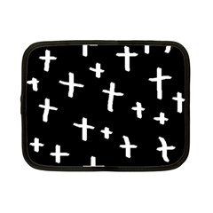 White Cross Netbook Case (small)