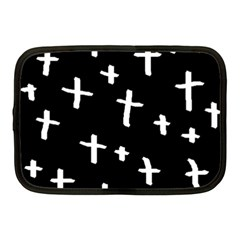 White Cross Netbook Case (medium)