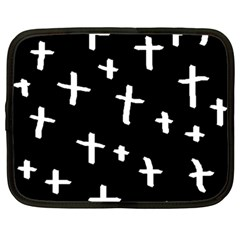 White Cross Netbook Case (large)